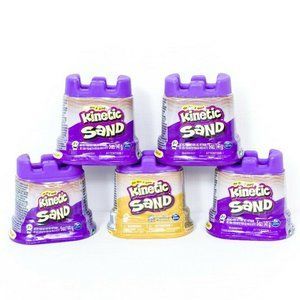 Kinetic Sand 5 Container Pack Purple Gold New Sand